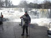 Tommy Colgan with a 7lb fly caught fish