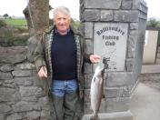 Our Chairman Pat Forkan with his lovely 8.5 lb spring fish caught on the fly.