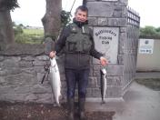 Neil Walton from Voya Seaweed Baths and Spa with his catch for the day