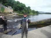 David King with his 3.94lb Salmon caught on the fly.