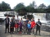 Some of the Kids who enjoyed their day fishing at Ballisodare.