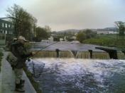 John Doherty plays a salmon on the fly!