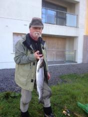 Our Friend Jean Loup Rosso from Switzerland with a fine 8lb Springer! An unforgettable moment of happiness :)